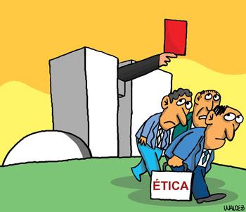 vermelho para a ética